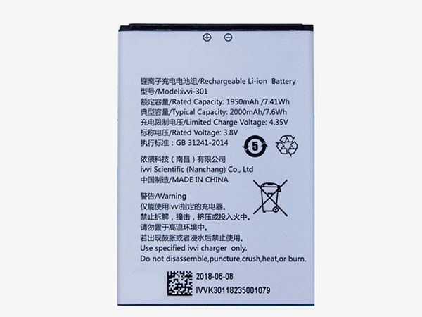 ivvi-301 Batteria Per Cellulare