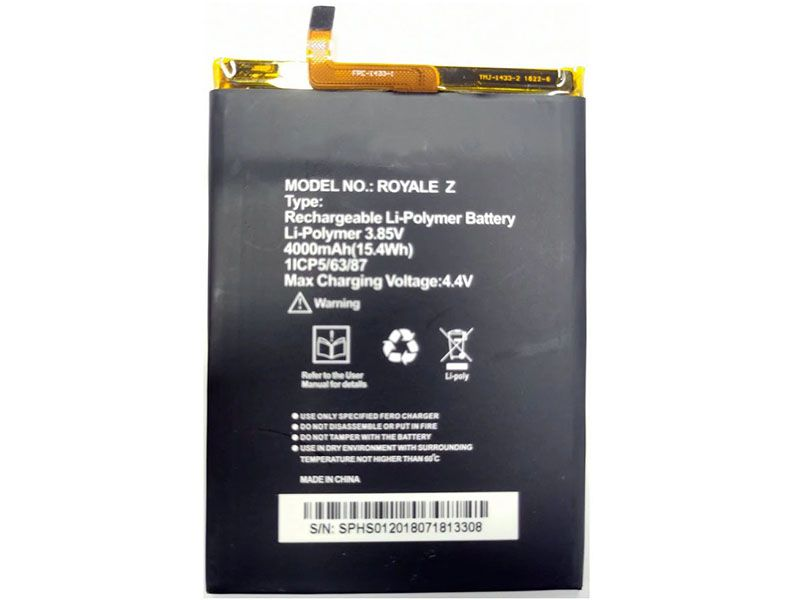 ROYALE_Z Batteria Per Cellulare