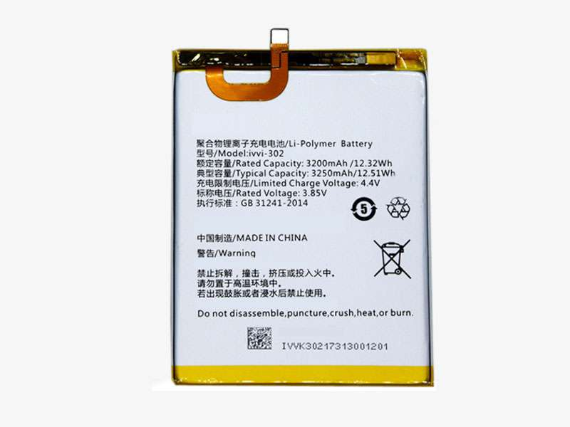 ivvi-302 Batteria Per Cellulare