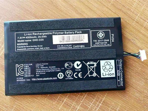GND-D20 Batteria del tablet